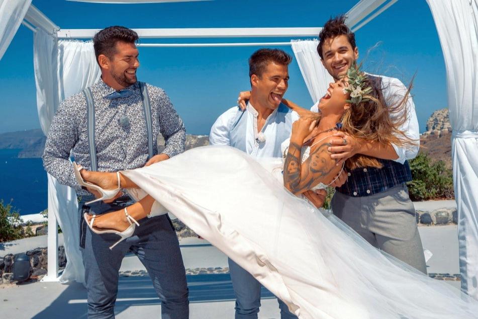 Beim Brautpaar-Shooting wird nicht nur gelacht.