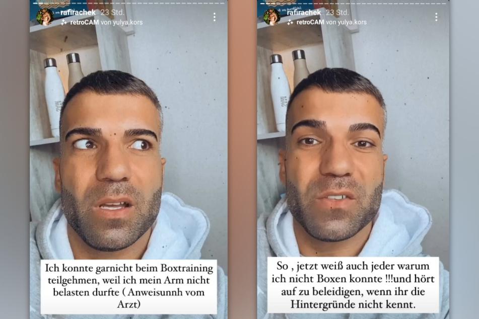 Rafi Rachek (30) hat nach heftiger Kritik erklärt, warum er nicht selbst gegen Serkan Yavuz (27) geboxt hat. (Bildmontage)