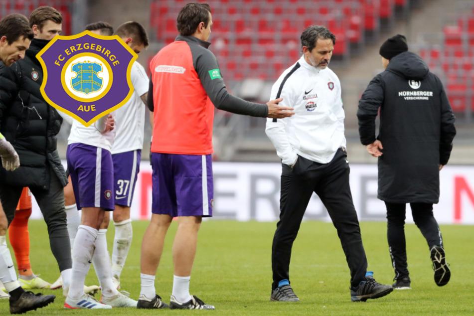 """Aue-Coach Schuster zum 0:1: """"Das einzig Enttäuschende"""""""