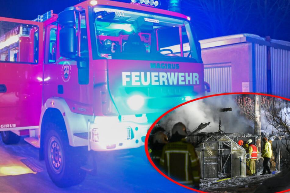 Feuerwehr verhindert weitaus größeren Schaden: Laube und Schuppen brennen nieder!