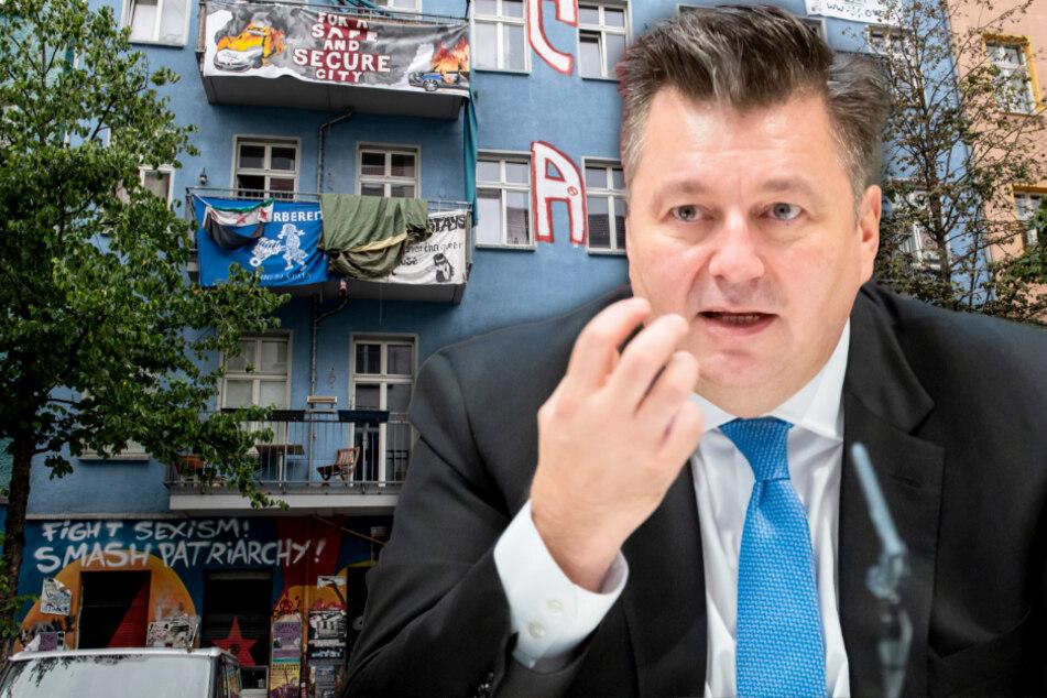 Gefahren in Rigaer Straße 94: Innensenator Geisel fordert Bezirk zum Handeln auf!