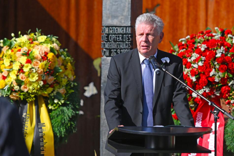 Dieter Reiter (SPD), Oberbürgermeister der Stadt München, spricht beim Gedenkakt zum 41. Jahrestag des Oktoberfest-Attentats.