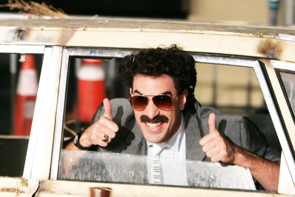 Schauspieler Sacha Baron Cohen (49) in der Rolle des Borat kommt zur Filmpremiere des gleichnamigen Films.