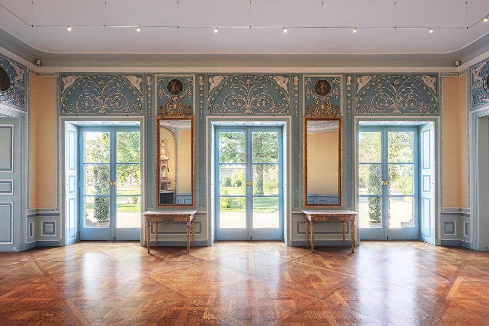 Noch geschlossen: Das Kaiserzimmer in Pillnitz.
