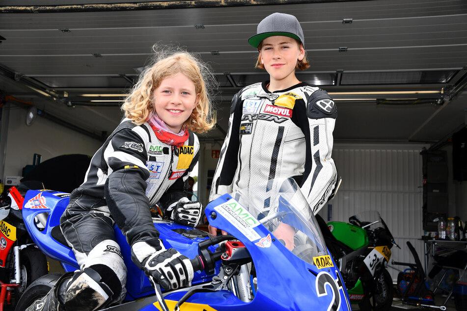 Anina Urlaß (9) und Bruder Phil (12) sind Geschwister und begeisterte Mini-Biker.