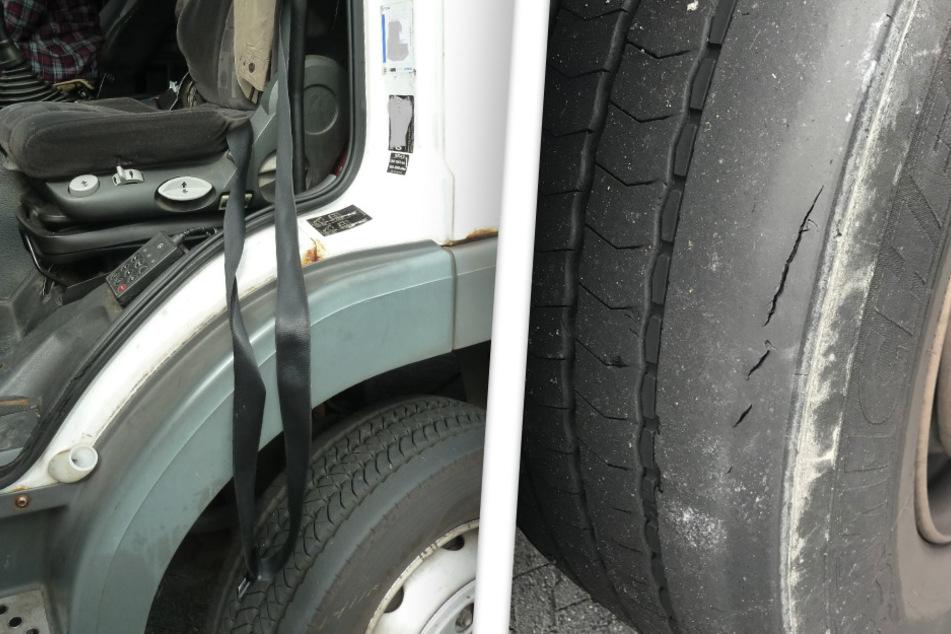 Defekte Gurte, poröse Reifen: An diesem Lastwagen war fast nichts in akzeptablem Zustand.