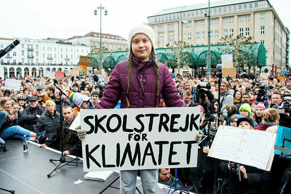 """Greta Thunberg (18) hat mit ihrem Schulstreik unter dem Motto """"Fridays for Future"""" eine weltweite Bewegung ausgelöst."""