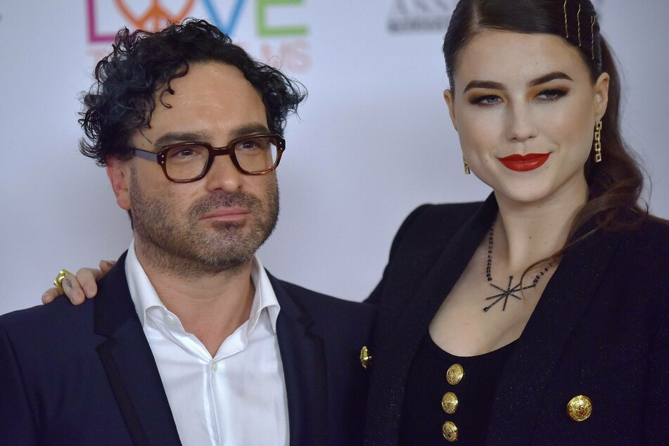 Happier times: Johnny Galecki and Alaina Meyer together in Beverly Hills, California on May 10, 2019.