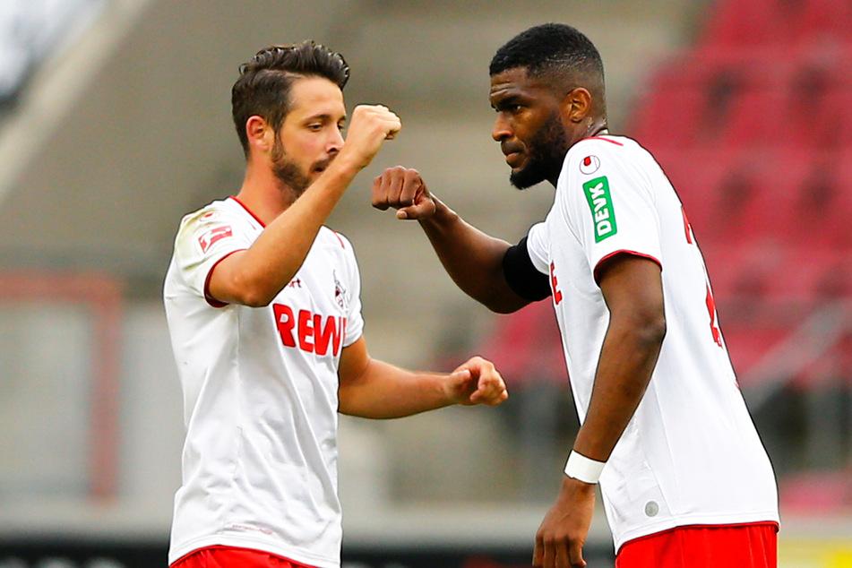 Kölns Anthony Modeste darf gegen Leverkusen ran, Mark Uth sitzt zunächst auf der Bank.