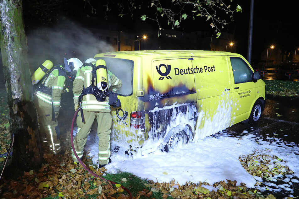 Die Kameraden der Feuerwehr löschten den Brand recht zügig.