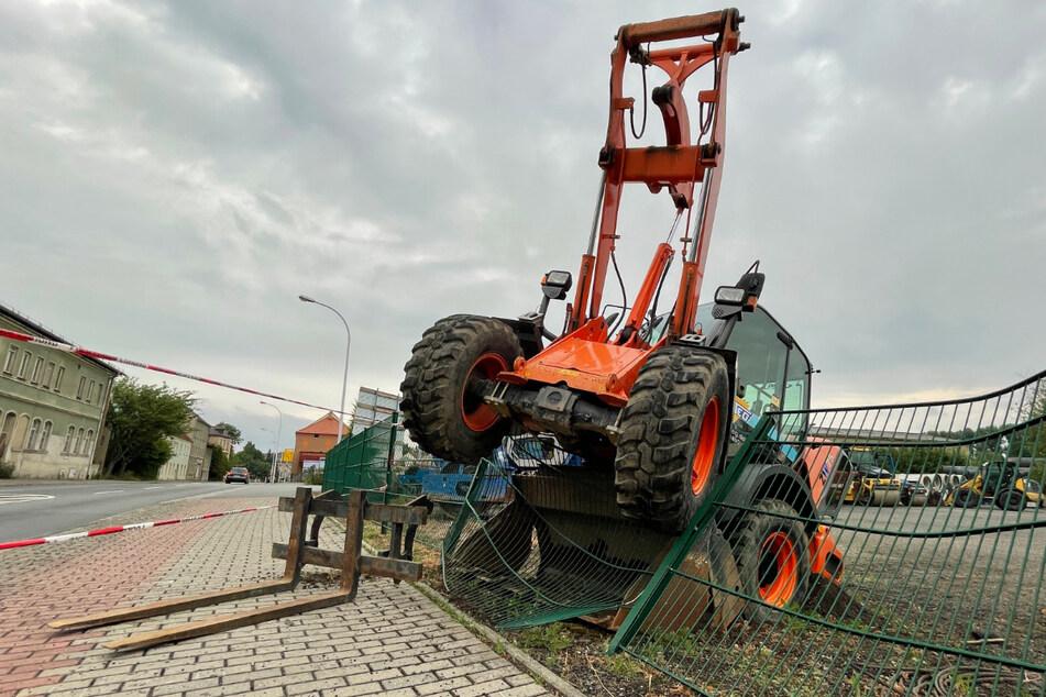 Unbekannte versuchten ein Baufahrzeug zu klauen - vergeblich.
