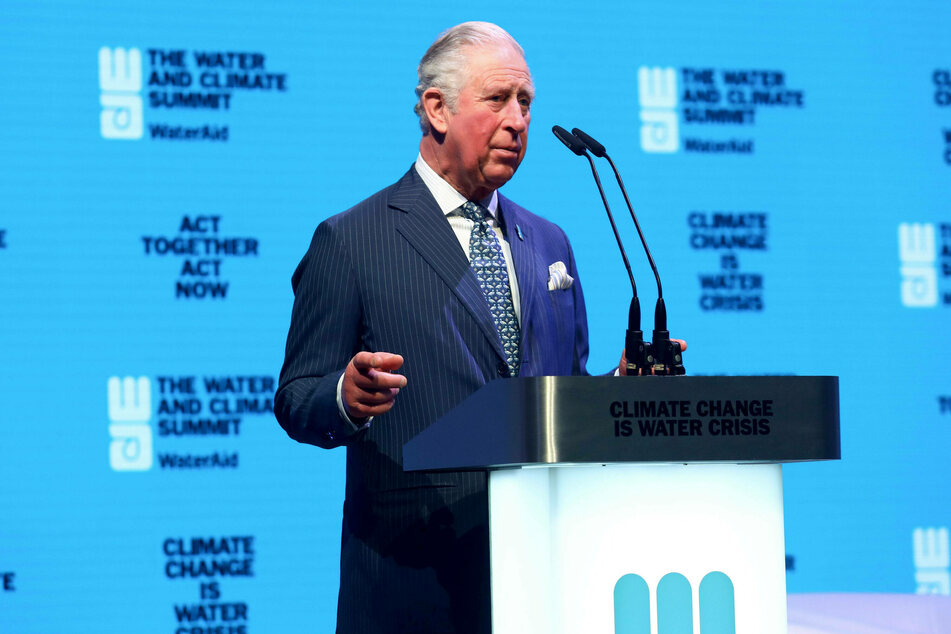 Prince Charles of Wales at the WaterAid charity's Water and Climate event in London in March 2020.
