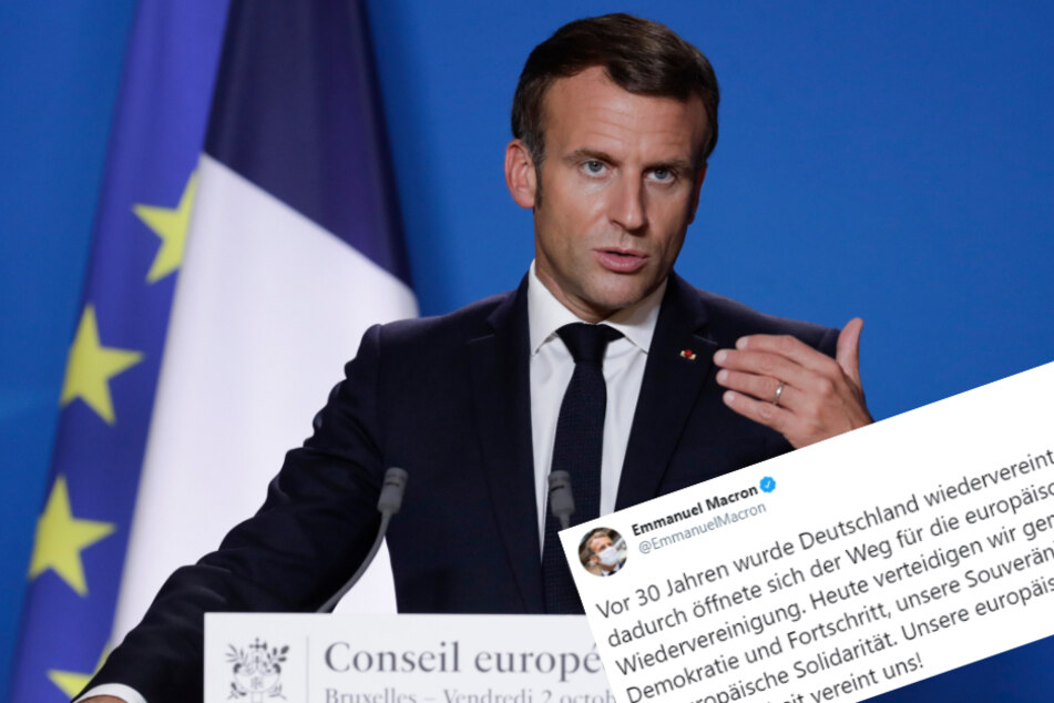 Zum Tag der Einheit gratuliert Emmanuel Macron auf Deutsch