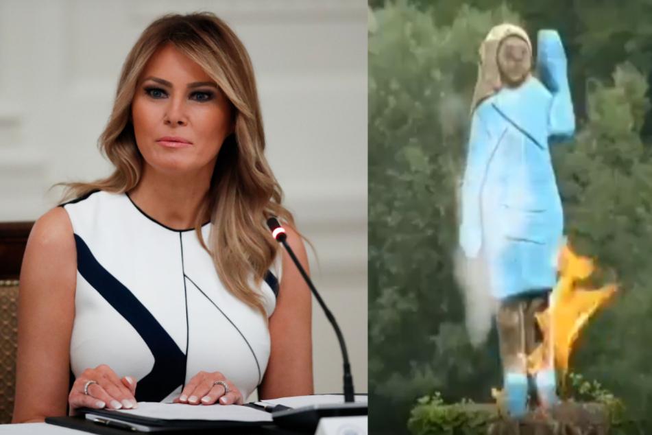 Statue von Melania Trump in Slowenien angezündet