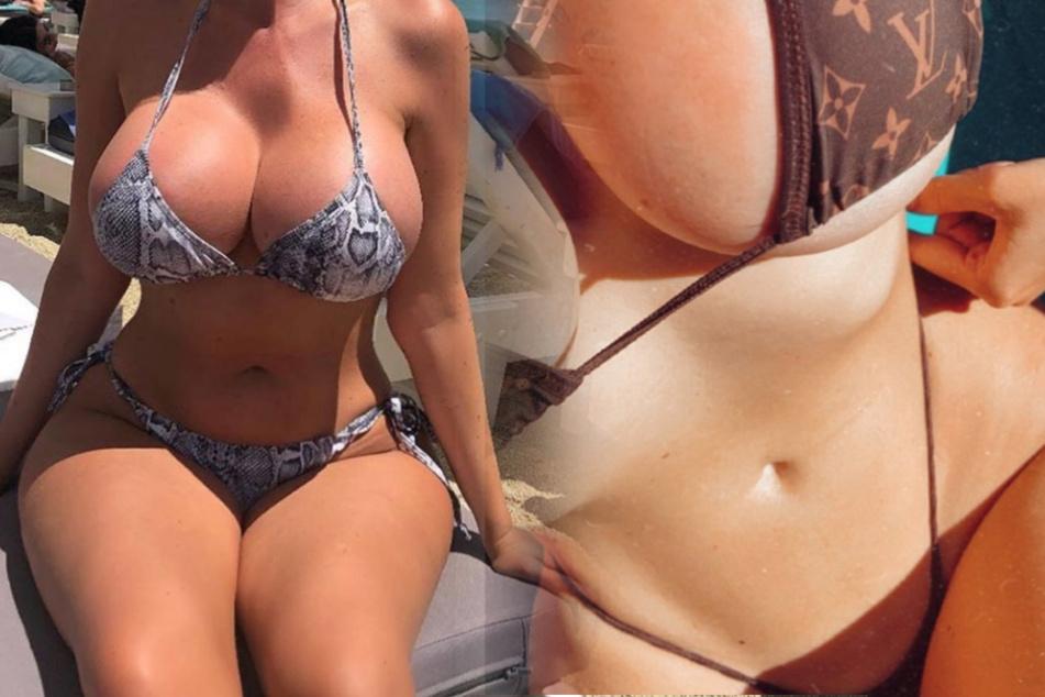 Heißer Start in den Sommer: Welches Instagram-Busenwunder verzückt hier im knappen Bikini?