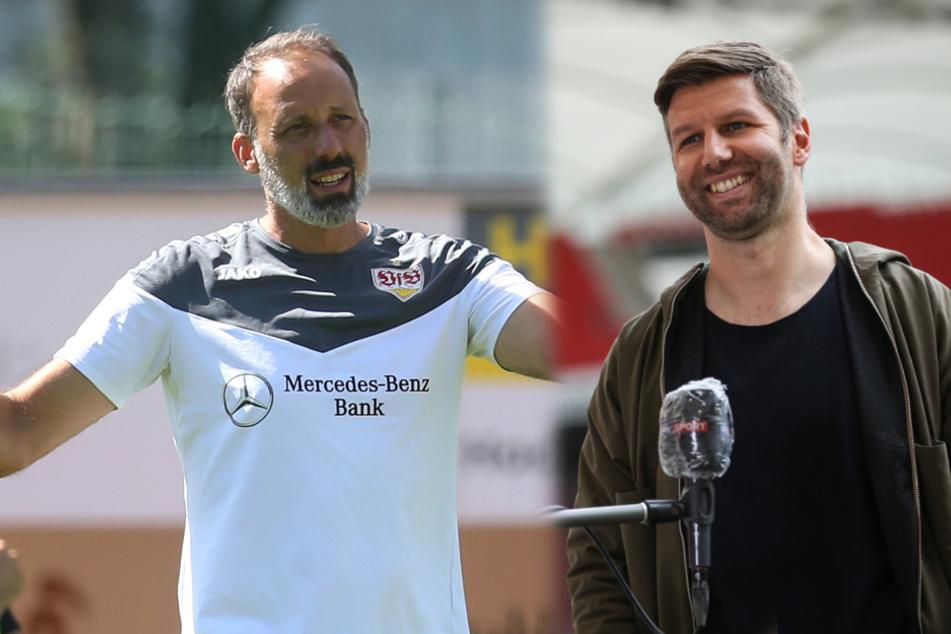 VfB-Cheftrainer Pellegrino Matarazzo (42, links) und Vorstandschef Thomas Hitzlsperger (38). (Fotomontage)
