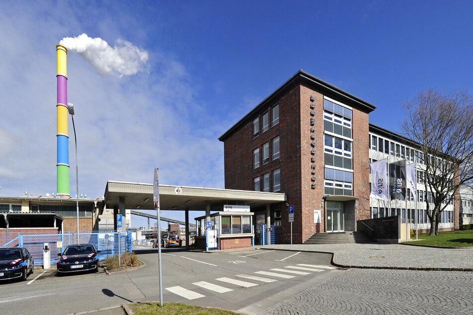 Im Heizkraftwerk Nord wurden Wohncontainer aufgestellt, falls sich Eins-Mitarbeiter zum Arbeiten in Quarantäne begeben müssen.