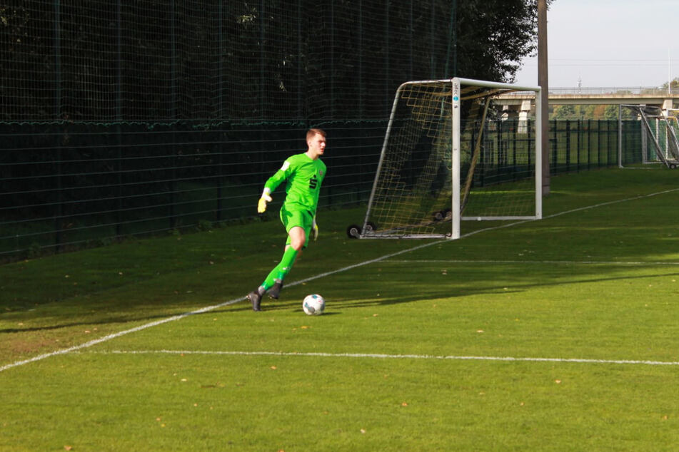 Jannis Maul (17) war in der vergangenen Saison Stammkeeper von Dynamo Dresdens U17 und hütete in dieser Spielzeit dreimal den Kasten der U19.