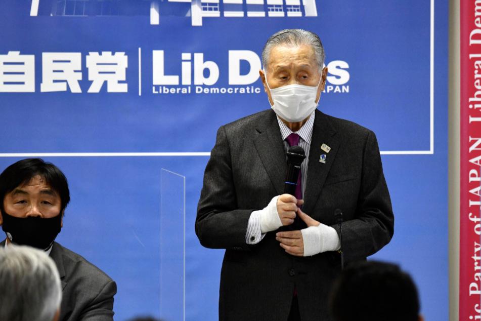 Yoshiro Mori bei einem Treffen der Liberaldemokratischen Partei (LDP).