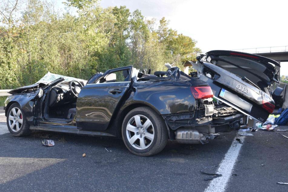 Unfall A61: Sperrung der A61: Familie überschlägt sich mit Audi A6 bei schwerem Unfall