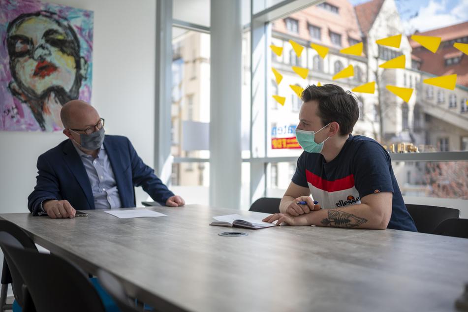 Im Gespräch mit TAG24 verriet der Chemnitzer FDP-Politiker Frank Müller-Rosentritt (38, links), dass er gegen die Corona-Notbremse vors Bundesverfassungsgericht zieht.