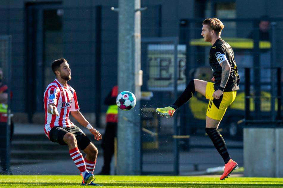 Marco Reus (r.) brachte Borussia Dortmund mit 1:0 gegen Sparta Rotterdam in Führung.