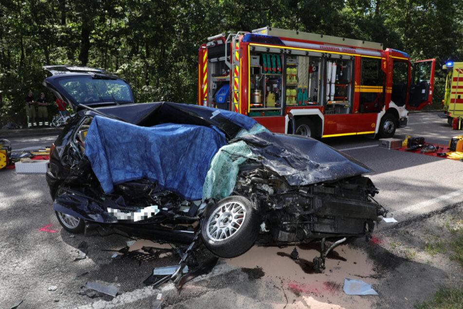 Der VW Polo erlitt einen Totalschaden.