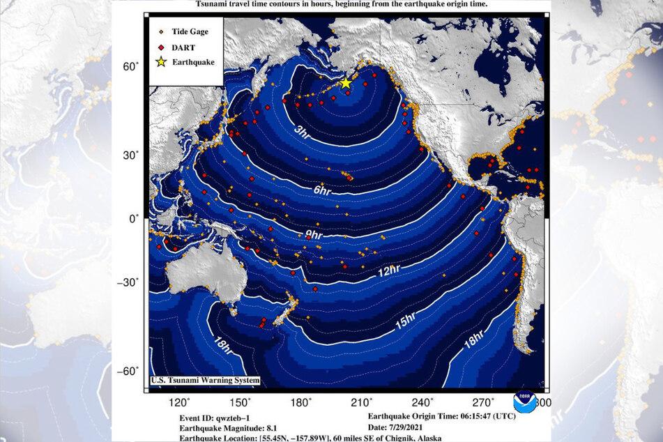In Alaska gab es ein Erdbeben der Stärke 8,2, eine Flutwelle rollt auf den US-Bundesstaat zu.
