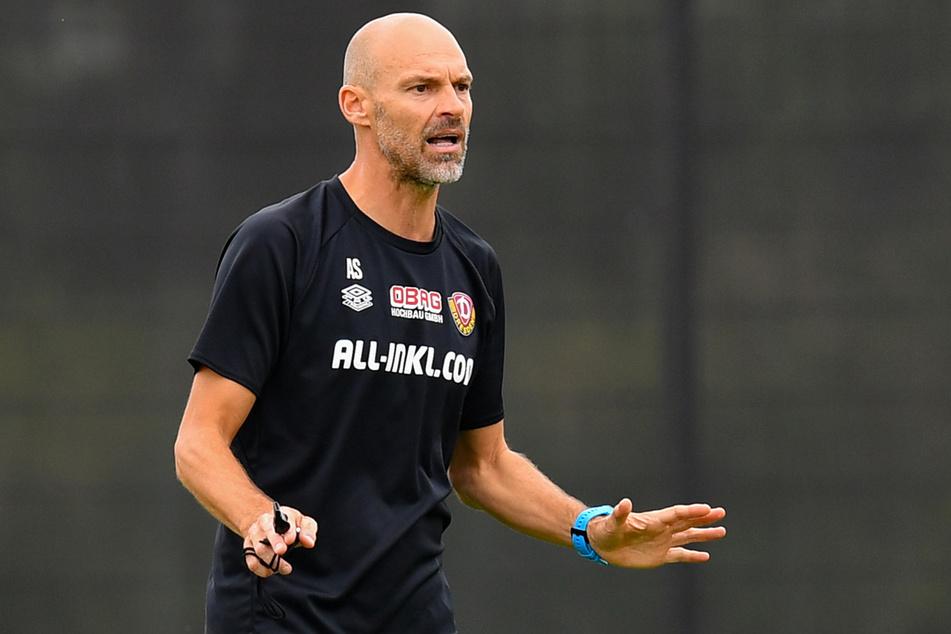 Dynamo-Trainer Alexander Schmidt (52) hat noch keine Entscheidung in Sachen Marco Hartmann gefällt.