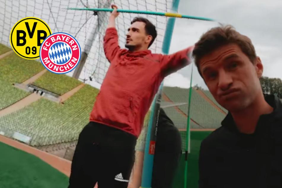 Hummels zieht Bayern die Lederhosen aus: BVB-Kicker zerlegt Müller beim Speerwurf