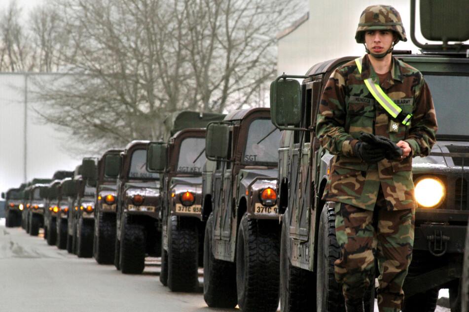 Verlassen Tausende US-Soldaten (im Bild eine Kolonne in Mannheim) die Bundesrepublik?