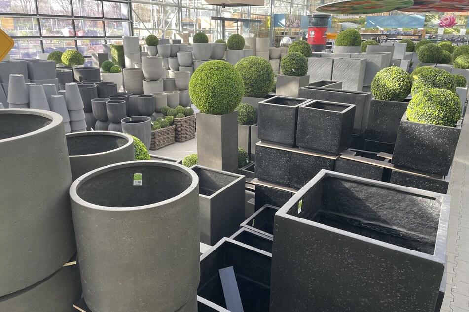 Hier bekommt Ihr gerade eine riesige Auswahl an Pflanz-Gefäßen und Blumentöpfen