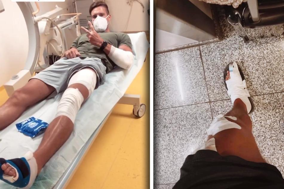 Joel Styrke stürzte mit seiner Freundin im Griechenland-Urlaub mit dem Roller.