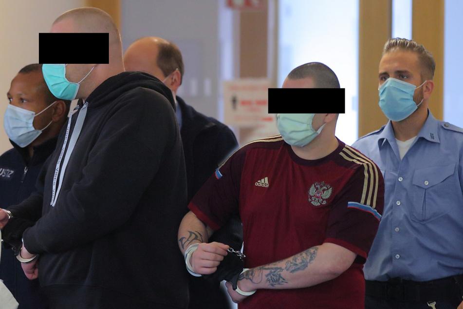 """Sebastian K. (41) und Mario D. (31) bekamen """"Knastverlängerung"""" im Amtsgericht Dresden."""
