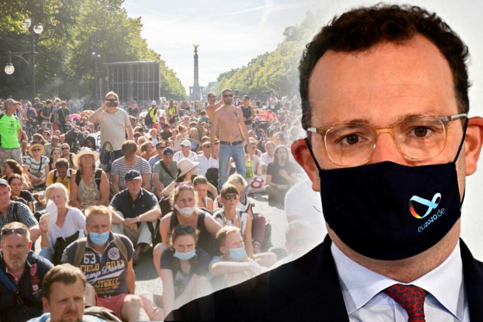 """Spahn kritisiert Massen-Demo der Corona-Gegner: """"Aber nicht so"""""""