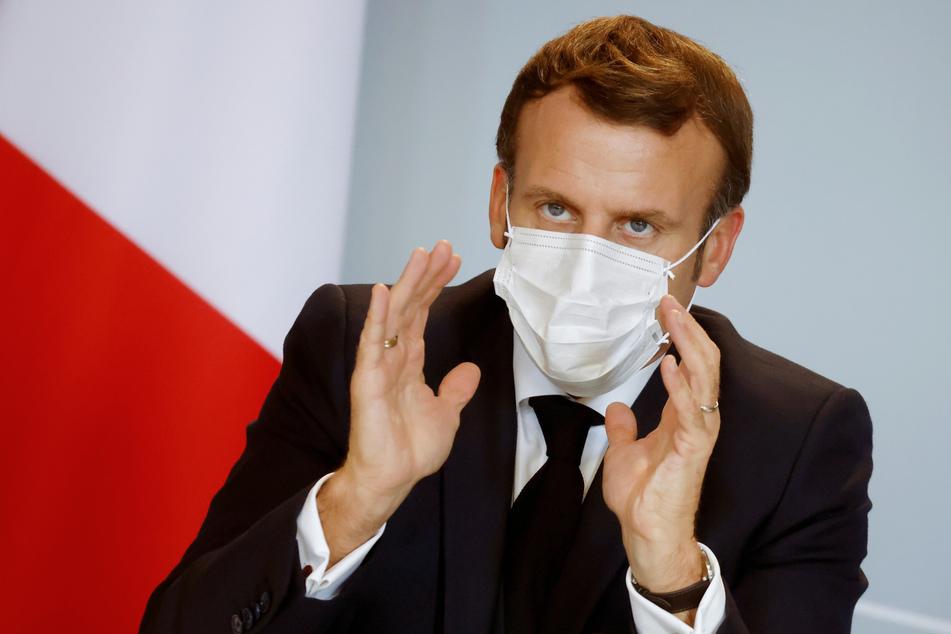 """Frankreichs Präsident Emmanuel Macron setzt bei Corona-Impfstoffen auf eine """"Strategie der Überzeugung und Transparenz""""."""