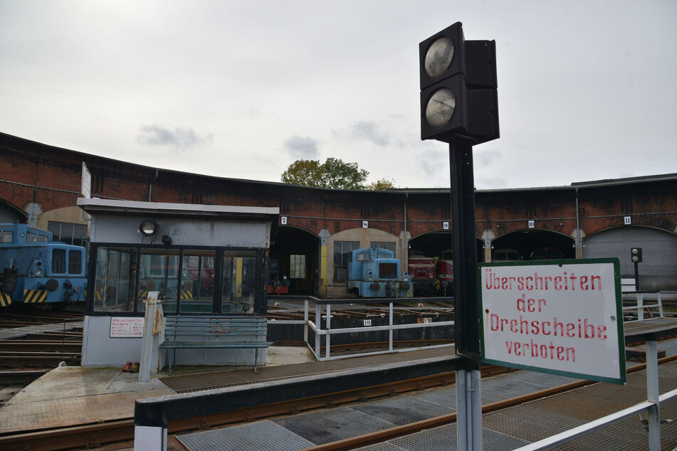 Der Ringlokschuppen im Chemnitzer Eisenbahnmuseum wird zur Kulisse. Erstmals wird auf dem Drehkreuz eine Bühne stehen.