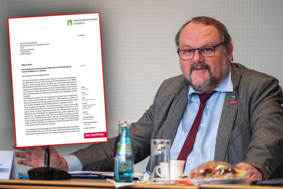 """Chemnitz: Handwerkskammer schickt offenen Brief an MP Kretschmer: """"Können wir so nicht stehen lassen"""""""