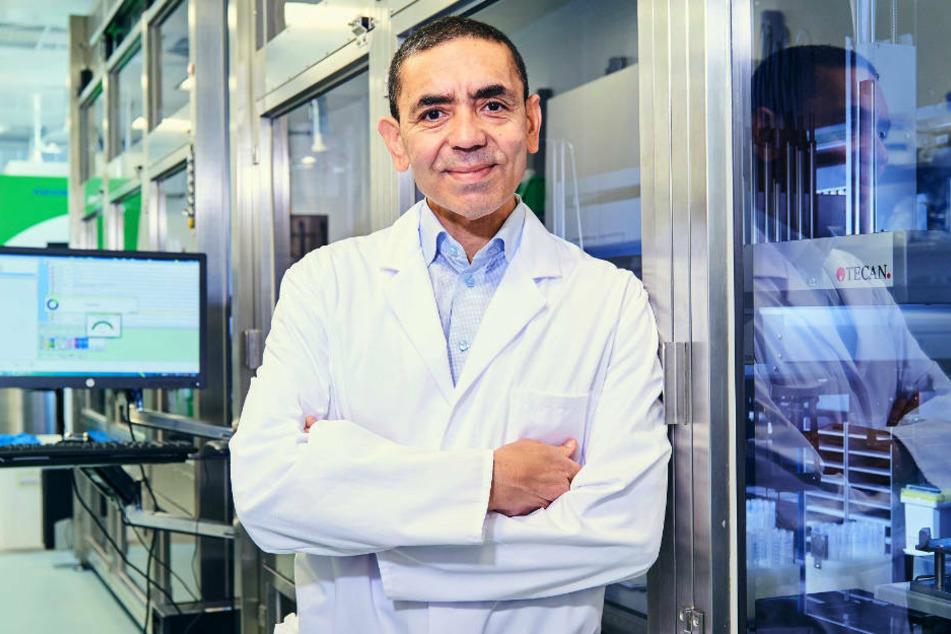 Biontech-Chef Ugur Sahin gibt sich verhakten optimistisch.