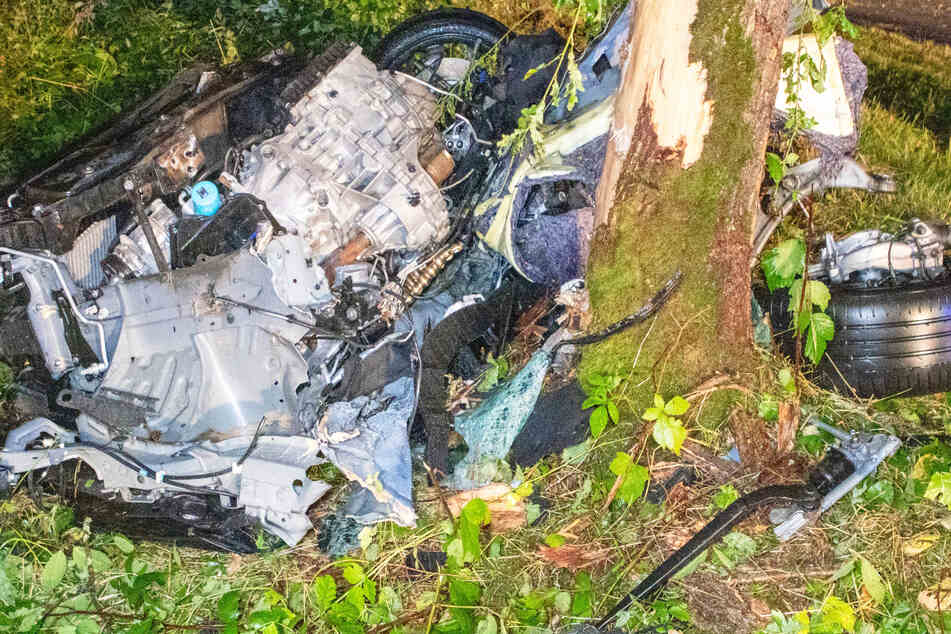 Renault zerschellt an Baum! Junger Fahrer verliert Kontrolle und rast in Waldstück