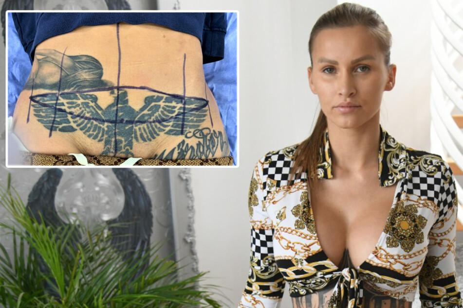 Instagram-Model Jill Hardener lässt sich Reichsadler-Tattoo rausschneiden