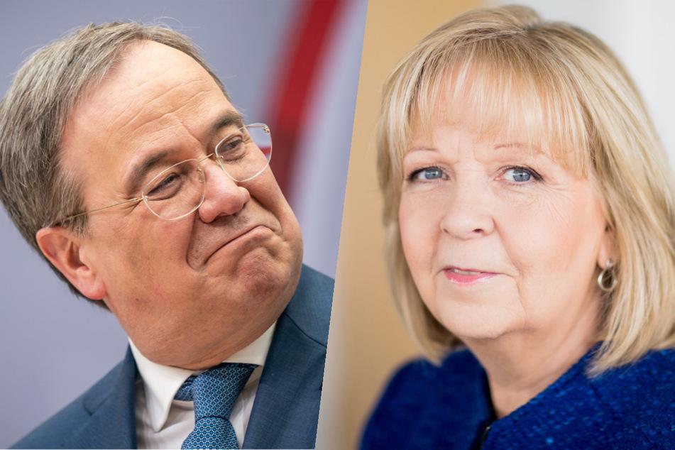 NRW-Ministerpräsident Armin Laschet (60, CDU) gratuliert seiner Amtsvorgängerin Hannelore Kraft (SPD) zum 60. Geburtstag.