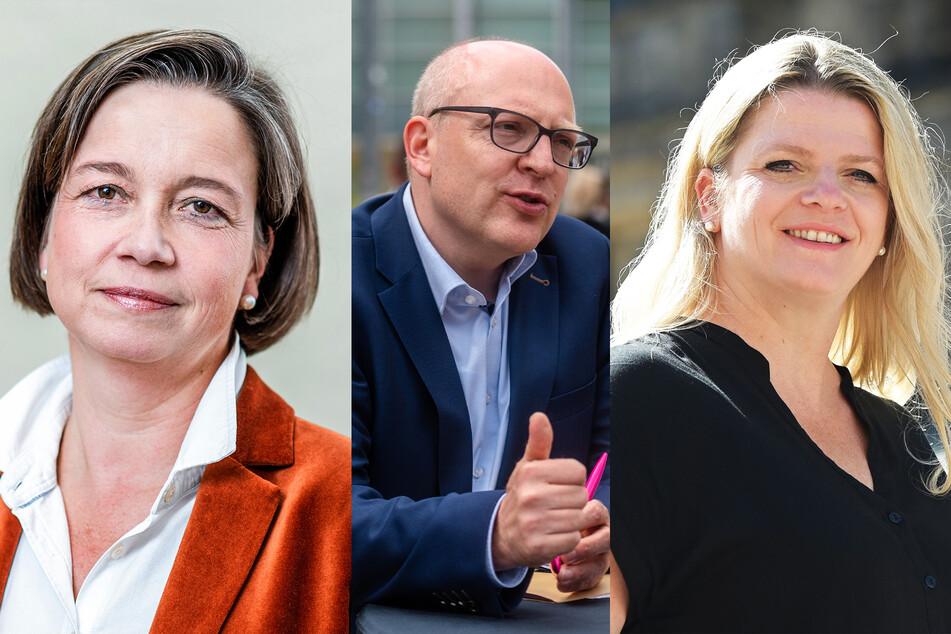 v.l.n.r.: Almut Patt (51, CDU), Sven Schulze (48, SPD) und Susanne Schaper (42, Linke).
