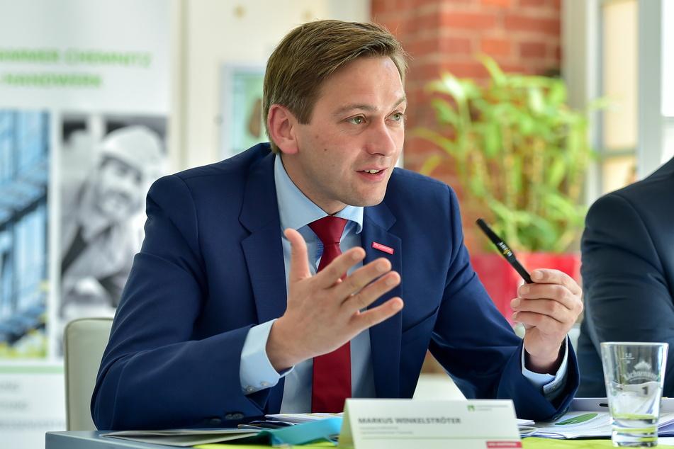 Handwerkskammer-Chef Markus Winkelströter leitet vorübergehend die Kreishandwerkerschaft Chemnitz.