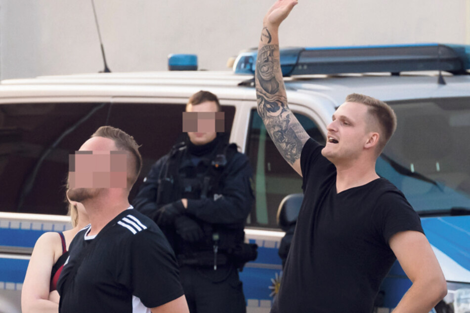 Christoph Aljoscha Zloch (28) provozierte am Montag am Rande einer Demonstration.