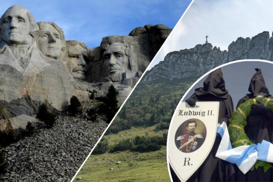 Irre Idee: Geheimbund Königstreuer plant Mount Rushmore in Bayern