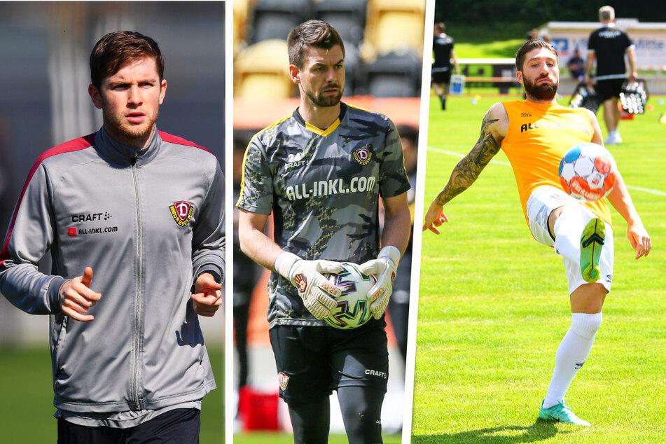 Patrick Weihrauch (27, l.), Patrick Wiegers (31, M.) und Brandon Borrello (26) sind auf dem Weg zum Comeback unterschiedlich weit.
