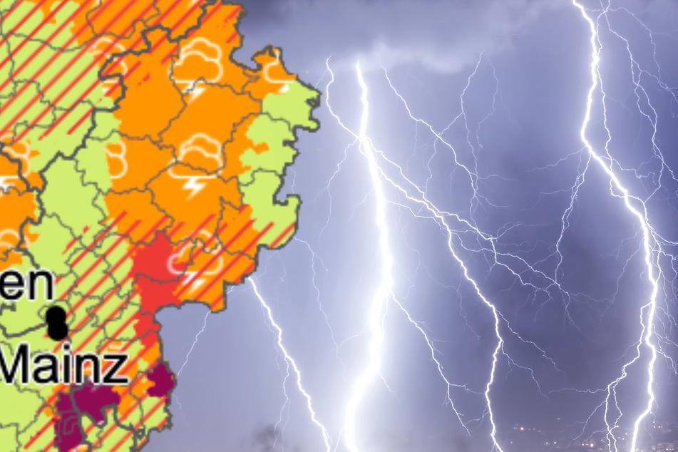 Der Deutsche Wetterdienst (Grafik) in Offenbach am Main hat seine Warnung für Hessen erweitert.