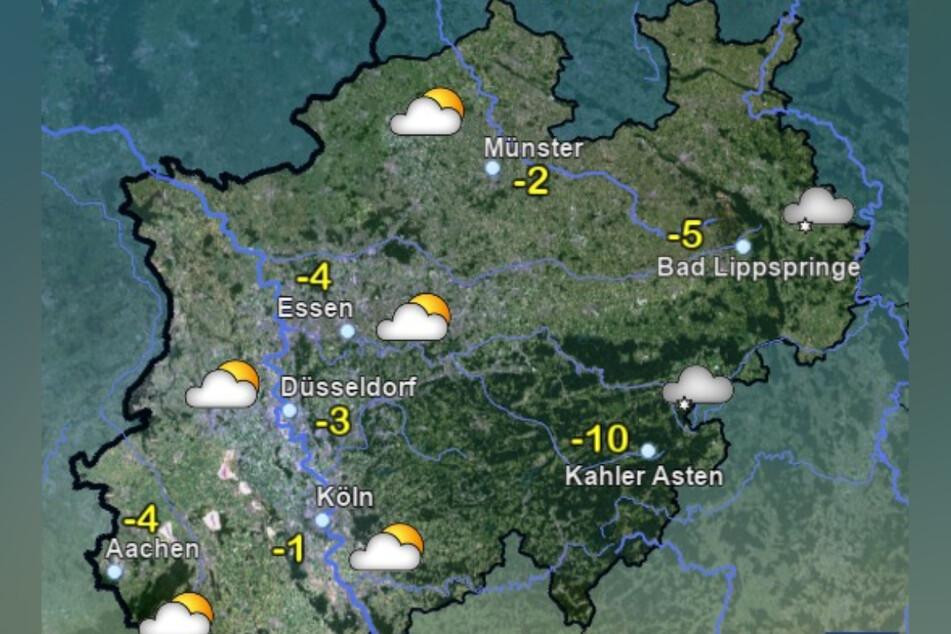 Am Mittwochabend bleibt es weiterhin frostig in Nordrhein-Westfalen.