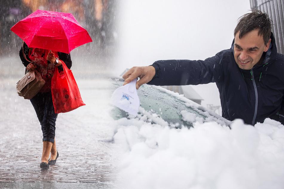 """Kalte """"Gisela"""" macht Sachsen nass: Dauerregen, steigende Pegel, und sogar Schnee fällt!"""